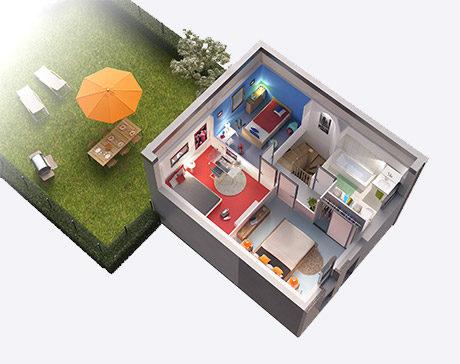 1er étage maison Cube