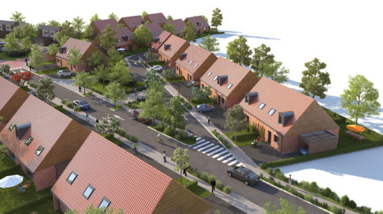 Axonométrie des maisons neuves de Saint-Saulve