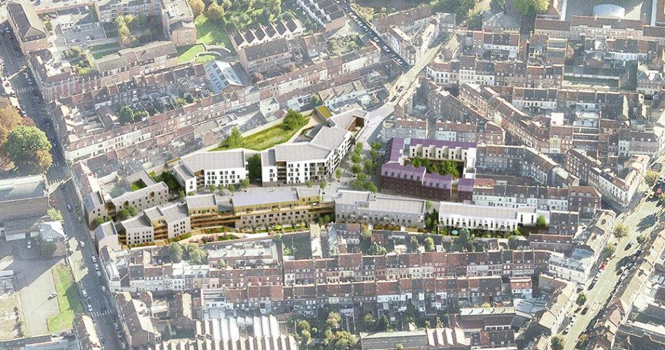 Axonométrie programme Electra à Lille