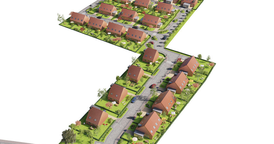 Plan masse de Garden à Annoeullin